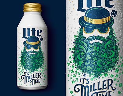 Miller Lite - St. Patty's Day Limited Edition Can Art