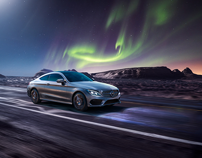 Mercedes-Benz polar lights (CGI + retouching)