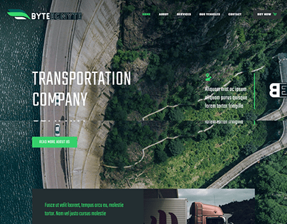 Transportation Company Landing Page Wordpress Elementor