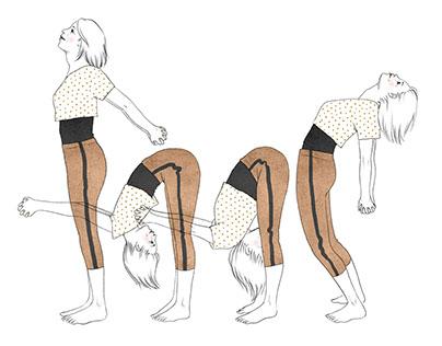 Yoga Book illustrations