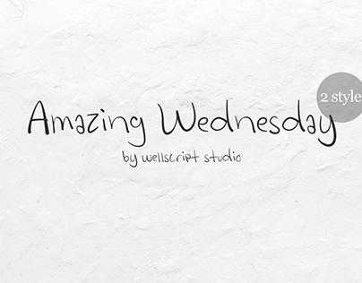 Free Amazing Wednesday Font