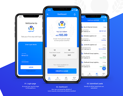 Customer Referral program Mobile application