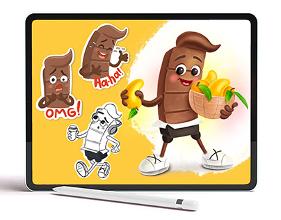 Chocolate bar character design