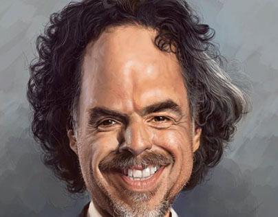 Alejandro Iñarritu Caricature