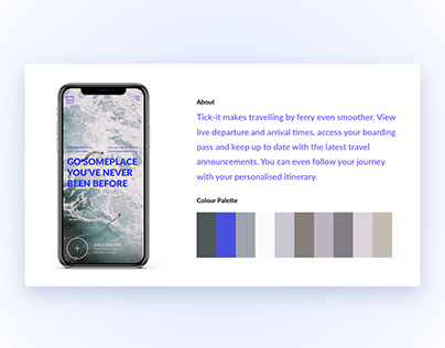 Landing page design for a ferry ticket search engine