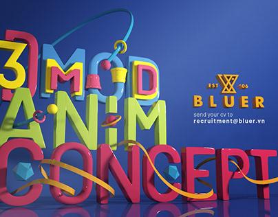 BlueR Studio | Recruitment poster | 3D team