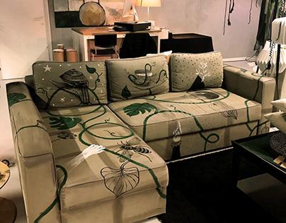 UAOHART   Hand-painted sofa