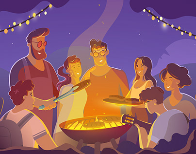 The Barbecue Time | MOTION GRAPHIC