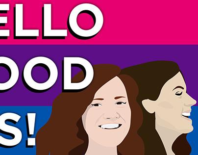 Podcast Cover art: Hello Good Bis (v.2)