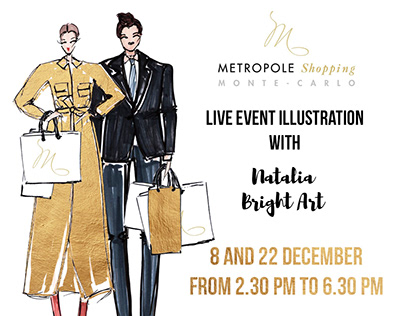 Event sketching at Metropole Shopping, Monte-Carlo