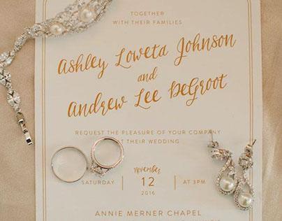 Ashley & Andy Wedding Invites
