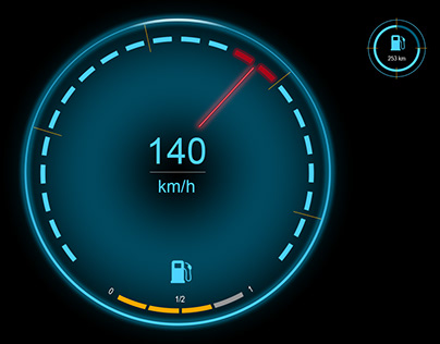 UX Design for a Head-Up-Display component in a car