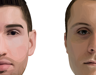Two Vector Half Portraits
