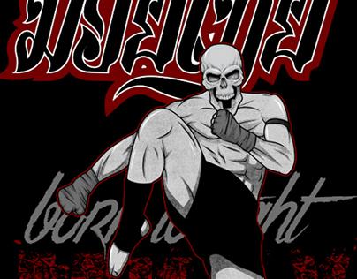 muay thai skull fighter