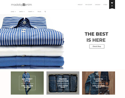 Ecommerce Website for madebydenim by weabers