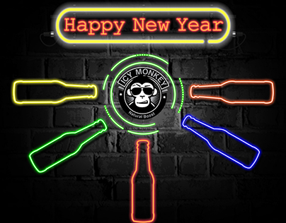 Icy Monkey New Year Motion Graphic