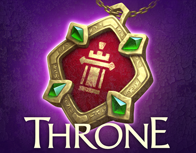 Icons and illustration for the game «Throne»