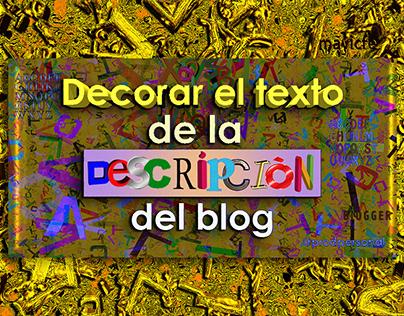 Customize Blog Description_Prodpersonal Blog