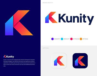 Kunity Logo Design - K Modern Logo