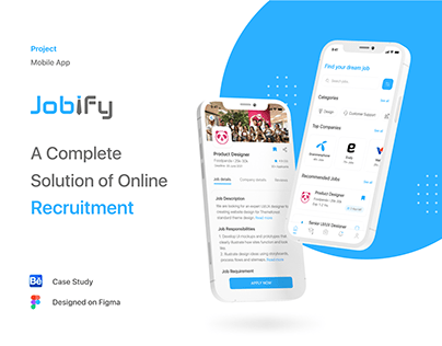Jobify - Job Finding App   UX/UI Case Study