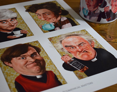 Father Ted caricatures