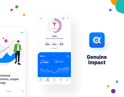 Genuine Impact - fintech mobile app