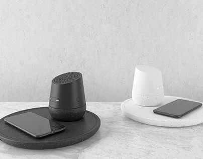 Hasu - Smart modular device with Charge QI and Speaker.