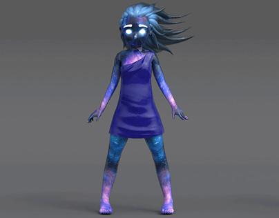 3D Model Purple Girl