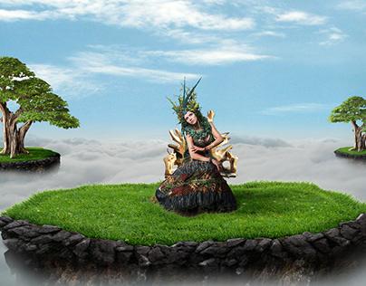Green Queen | Photoshop tutorial | Photo Manipulation.