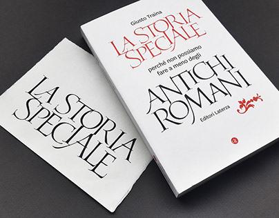 Lettering copertina Editori Laterza