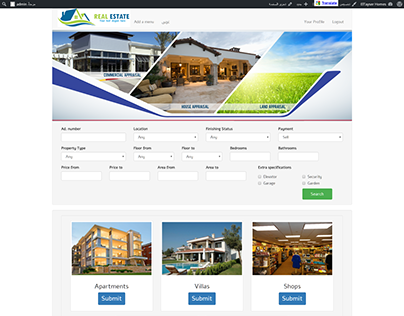 ElTayser Homes Real-Estate Website