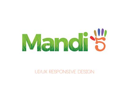Mandi5-Responsive Website for Agri Produce Market
