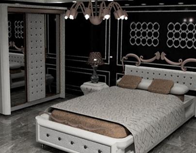 bedroom 3d modling