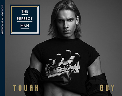 """""""Tough guy"""" editorial for The Perfect Man magazine"""