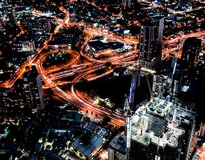 Nighttime Melbourne