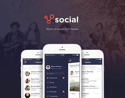 Social App - mobile design