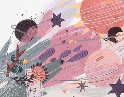 """Bonvoyage week"" challenge illustrations"