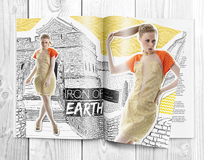 Apriadhy W's Fashion Spread: Iron of Earth