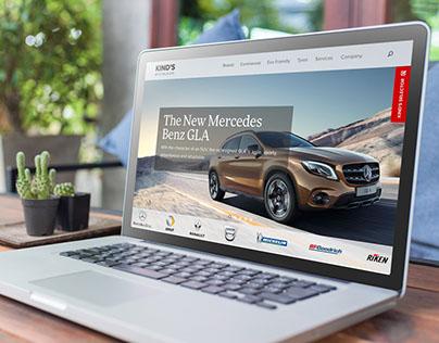 Kind's – Auto Sales Website Evaluation & Redesign