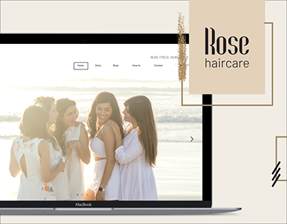 Rose Haircare Website design