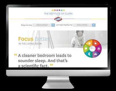 Clorox Institute of Clean Landing Page