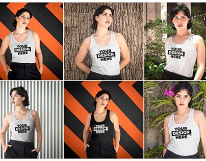 6 Womens Tank Top Mockups