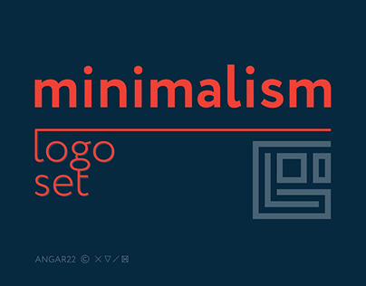 Minimalism. Logo set © 2017
