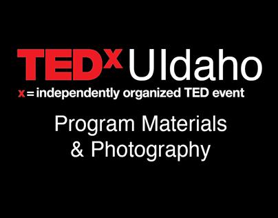 TEDx UIdaho Program Materials & Photography