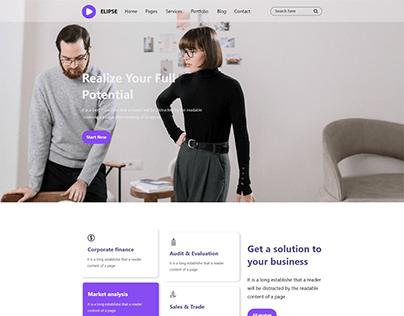 Elipse Home page UI Design