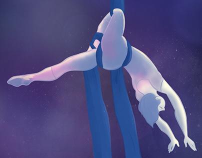 Digital illustration - Aerial Silk