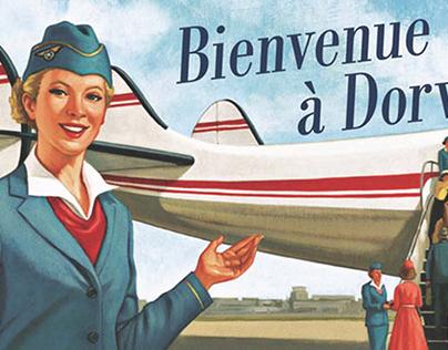 Super panneau à l'aéroport Pierre-Éliott Trudeau