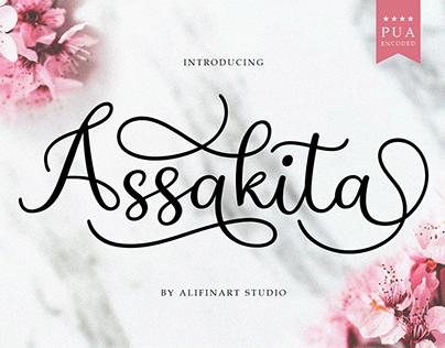 Assakita Font by Alifinart Studio