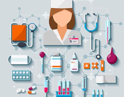 Vector medical set
