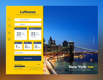 Lufthansa iPAD UX/UI Design (Teaser)